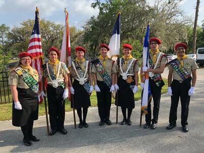 Pleasant Valley Pathfinders Post Colors at Division Pathfinder Bible